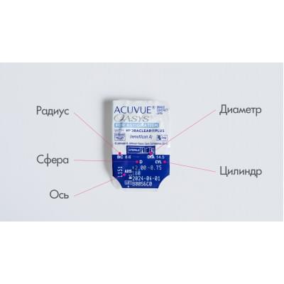 Контактные линзы ACUVUE OASYS for Astigmatism with Hydraclear Plus (поштучно)